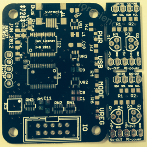 buspirate plus 2 levelshifters in one 5*5cm pcb